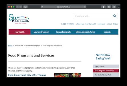Food Resources website
