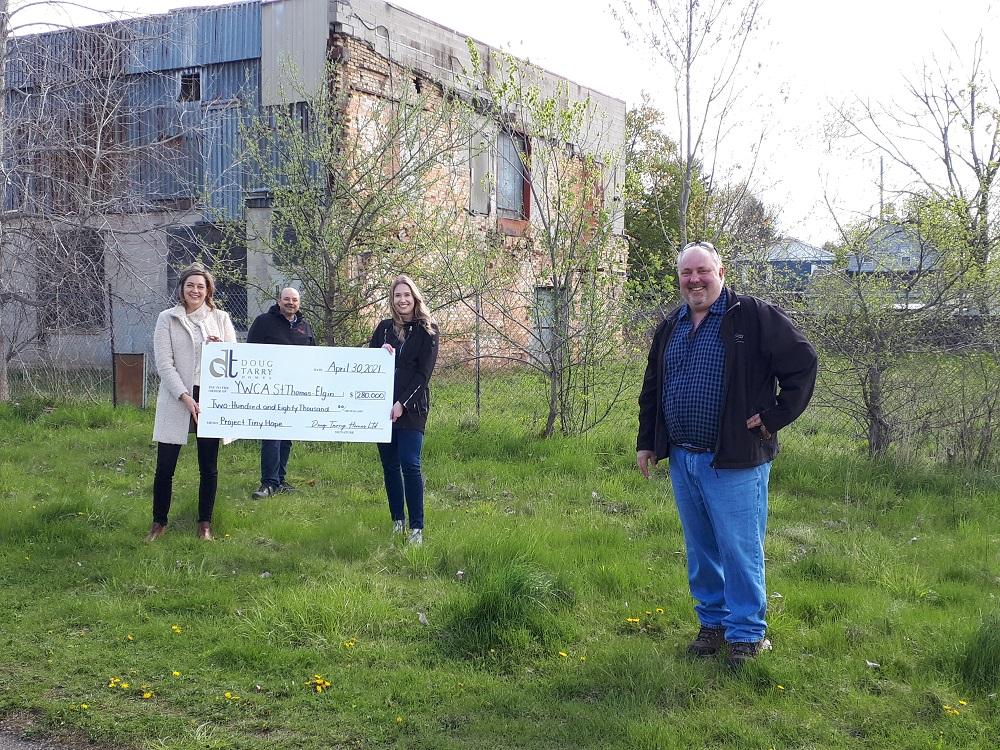 Doug Tarry Ltd presents donation to YWCA St.Thomas-Elgin and Sanctuary Homes